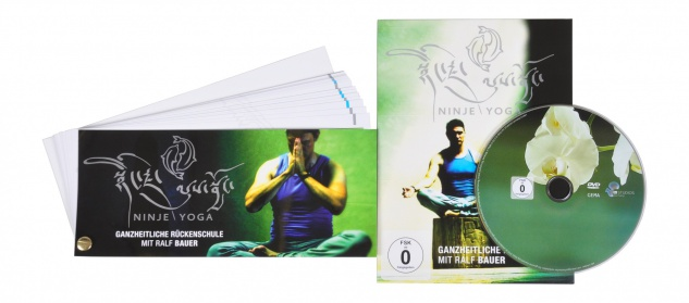 DVD Ninje Yoga Rückenschule 3-tlg.mit Ralf Bauer Handbuch Sitzball Gymnastikball - Vorschau 2