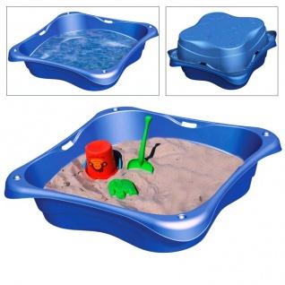 Sandkasten 2er-Set Planschbecken Buddelkasten Pool Sandbox Sandkiste Kunststoff