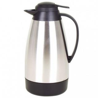 Edelstahl-Isolierkanne 1L Thermoskanne Warmhaltekanne Kaffeekanne Teekanne Kanne