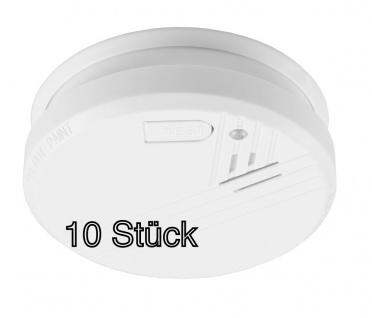 10x Feuer Rauchmelder ohne Batterie Warnmelder Feuermelder Rauchwarnmelder