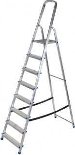 ap alpfa gmbh HAUSHALT-LEITER Stufen-Stehleiter 800076 Alu 8stf.
