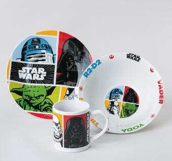 """KINDERSET Frühstücks-Set ,, Star Wars"""" 24660 3tlg. Star Wars"""