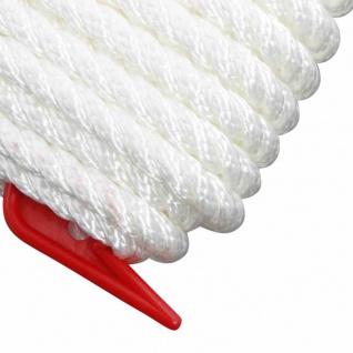 Nylon-Tauwerk 8 mm Farbe: weiß, Länge: 10 Meter