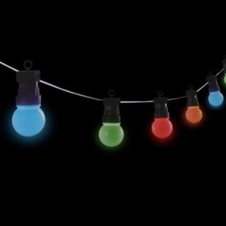 LED Biergarten-Lichterkette Partylichterkette Partybeleuchtung Garten bunt 4, 5m - Vorschau 2