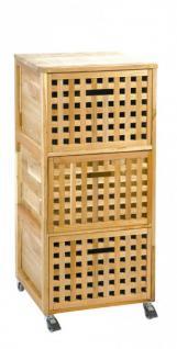 Rollcontainer aus Walnuss 41x41x93 cm Rollen Container Badezimmer Schrank Bad