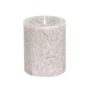 Diamond Candles Stumpenkerze hellgrau 70x80 mm Wachskerze Deko Wachs Kerze - Vorschau