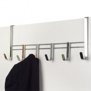 Metall-Türgarderobe verchromt Türhaken Kleiderhaken Garderobenhaken Hakenleiste