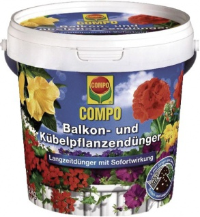 "COMPO Balkon- und Kübelpflanzendünger ,, COMPO®"" 12094 Balkon-dÜnger 1, 2 Kg."