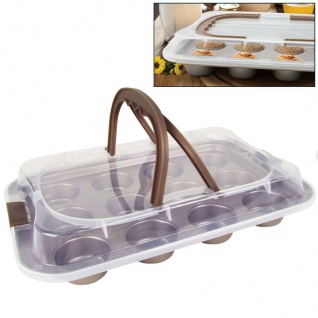 Muffin-Container Muffinform Muffinbackform Cupcakes Kuchenbehälter Kuchenbutler - Vorschau 1