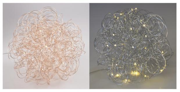 LED-Drahtkugel 25 LEDs Timer Lichterkugel Kugellampe Weihnachtsdeko Lichterkette