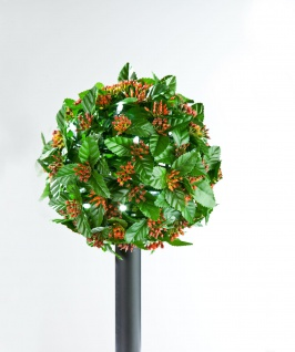 LED Solar-Bäumchen Ilex Stechpalme Gartenbeleuchtung Weihnachtsdeko Kunstpflanze - Vorschau 2