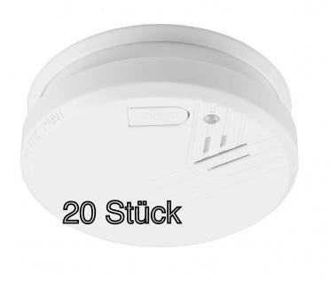 20x Rauchmelder ohne Batterie Warnmelder Feuermelder Rauchwarnmelder