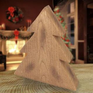 Deko-Tanne in Holzoptik 19cm Winterdeko Weihnachtstanne Tannenbaum Landhaus Baum