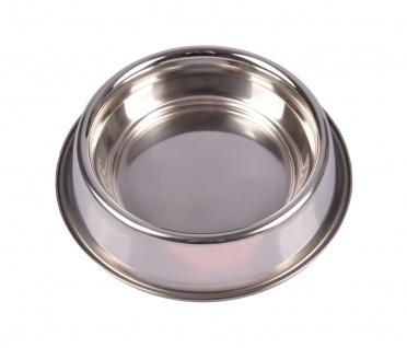 Edelstahl Fressnapf 15cm Hundenapf Wassernapf Futternapf Trinknapf Katzennapf - Vorschau 1