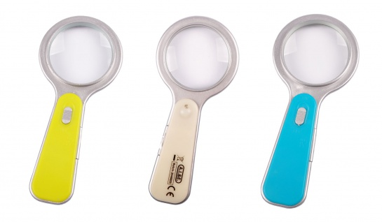 LED Vergrößerungsglas Lesehilfe Handlupe Leselupe Taschenlupe Sehhilfe Lupe