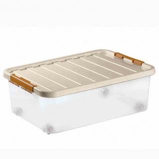 Rollerbox 25l 52x36x18 + 4 Rollen 12 Stk Box Boxen Aufbewahrung Möbel wohnen TOP