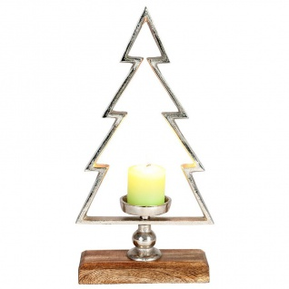 Teelichthalter Tannenbaum 33cm Kerzenständer Weihnachtsdeko Dekotanne Baum Tanne