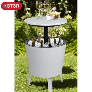 Keter Coolbar weiß Stehtisch Partytisch Cocktailbar Kühlbox Gartentisch Tisch