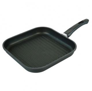Aluguss Bratpfanne 28cm Grillpfanne Steakpfanne Schmorpfanne Gusspfanne Pfanne