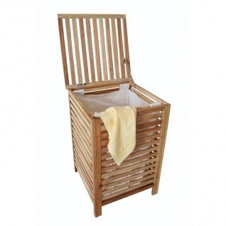 Wäschebox aus Walnussholz Wäschetruhe Wäschetonne Wäschesammler Sitzhocker Truhe