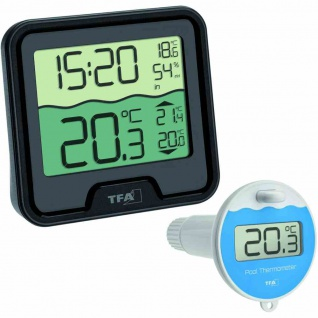 """Poolthermometer Funk """" Marbella"""" Messtiefe 11 cm"""