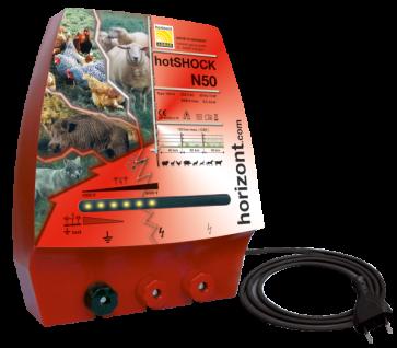 Horizont Weidezaungerät hotSHOCK N50 extrem starkes Netzgerät bis 40 km Zaunlänge