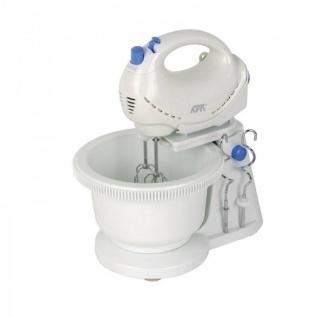 Handmixer mit Rührschüssel Handrührgerät Küchengerät Mixer weiß