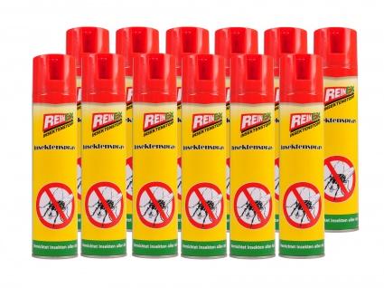 12x Reinex Insektenspray 400ml Insektenstopp Mückenspray Fliegenspray Wespen
