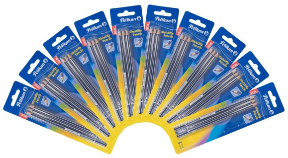 Pelikan 10x3er Pack Bleistifte Härtegrad 2B Schulstift Zeichenstifte bruchstabil