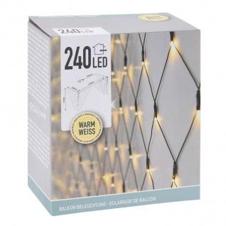 Balkongeländer Lichternetz 210x100cm 240 LEDs Weihnachtsbeleuchtung Balkondeko