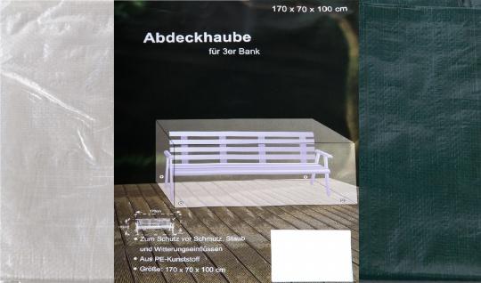 Abdeckhaube 3er Bank 170x70x100cm Schutzhülle Möbelschutz Abdeckplane Regenplane
