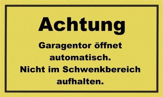 METAFRANC SCHILD Kennzeichnungsschild 500430 Achtung! Garage Oeffn.