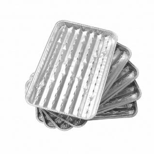 Aluminium-Grillpfannen, 35x25 cm, 5er-Pack