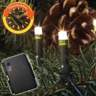 LED-Batterie-Netz außen 160er warmweiß 3xAA Lichterkette Außenbeleuchtung Deko