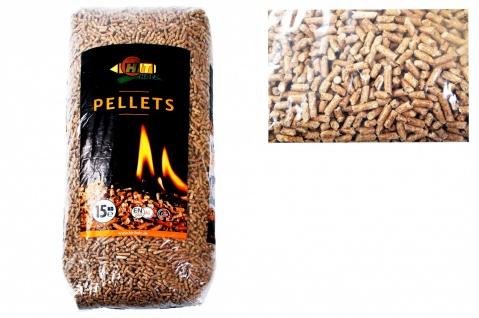 Holz-Pellets 15kg Ø6mm ENplus A1DIN Sackware Brennstoff Pelletofen Ofen Heizung