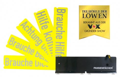 Auto Pannenfächer mit Hinweiskarten Warndreieck Pannenhilfe Unfallwarner PKW