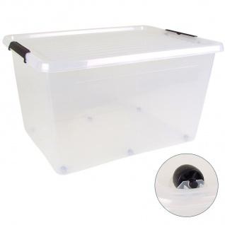 Box-One 75L Aufbewahrungsbox Rollbox Spielzeugbox Ordnungsbox Utensilien Kiste