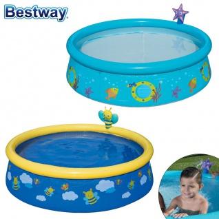Bestway Kinderpool mit Wassersprüher Planschbecken Swimmingpool Seestern Biene