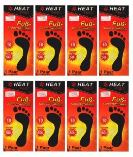 "8 Paar Fußsohlenwärmer "" Heat Feet"" Wärmesohlen Schuhwärmer Sohle Fußwärmer"