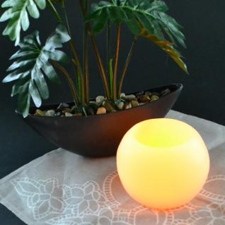 LED-Kugelkerze Wachsüberzug Wachskerze Kerze Flackerlicht Licht Dekokerze