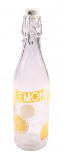 Drahtbügelflasche Zitrone 0, 5L Bügelverschluss Saftflasche Trinkflasche Flasche