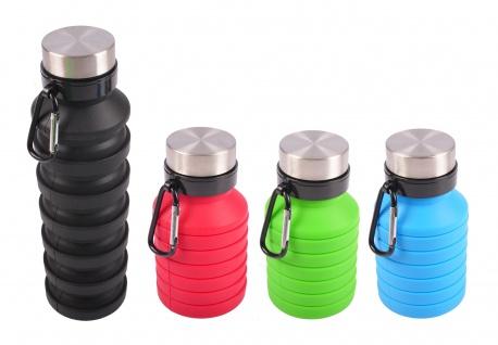Faltbare Trinkflasche aus Silikon 550ml Reiseflasche Wasserflasche Camping Sport