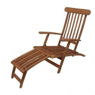Deckchair Liegestuhl Gartenliege Sonnenliege Relaxliege Gartenstuhl Teakholz