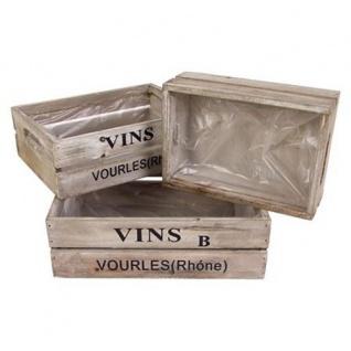 Deko Weinkisten-Set Holzkisten Obstkisten Vintage Used look Aufbewahrungsbox