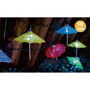 LED-Solar-Lichterkette Cocktailschirm bunt Partybeleuchtung Dekolicht Gartendeko