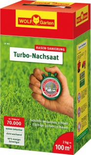Wolf WOLF Garten Turbo-Nachsaat 3826040 Nachsaat- Rasen 100qm Lr100