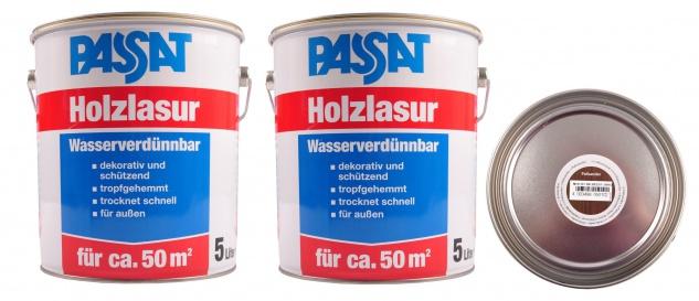 Passat Holzlasur 10 Liter Palisander Holzschutz schnelltrocknend Holzfarbe außen