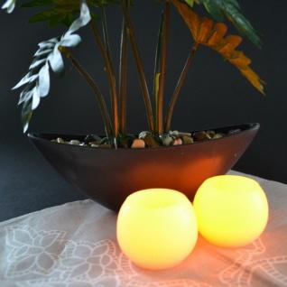 LED Kugelkerzen 2er-Set mit Kerzenflackern Kugelkerze Wachskerze Dekolicht Kerze