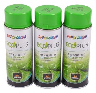 3x 400ml Dupli Color ECOPLUS Lackspray gelbgrün Farbspray Sprühlack Sprühdose