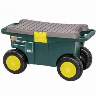 Hobby-/Gartenwagen grün/gelb Schubkarre Garten Terrasse Transportwagen Wagen TOP
